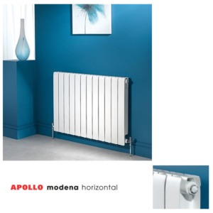 Apollo Modena Horizontal Aluminium Radiators