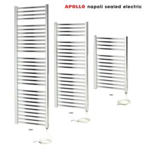 Apollo Napoli Sealed Electric White Towel Rails
