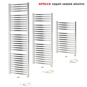 Apollo Napoli Sealed Electric Chrome Towel Rails