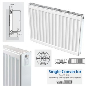 Inspired Compact Single Convector Radiators