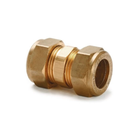 10mm Brass Compression Coupling Fitting