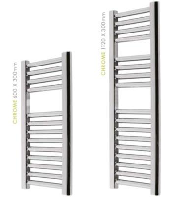 Abacus Micro Linea Chrome Slimline Towel Warmers