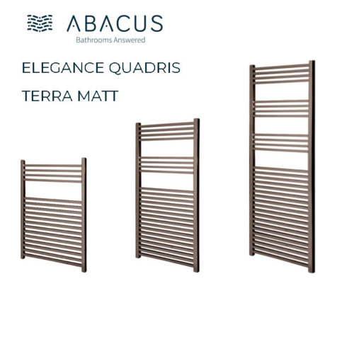 Abacus Quadris Terra Matt Towel Rails