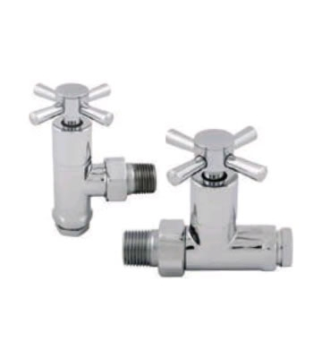 Abacus Ultima Quattro 15mm Chrome Manual Radiator Valve Set