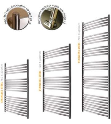 Abacus Radius Stainless Steel Towel Rails