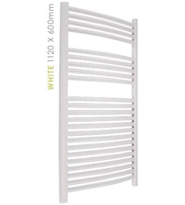 Abacus Radius White Towel Rails