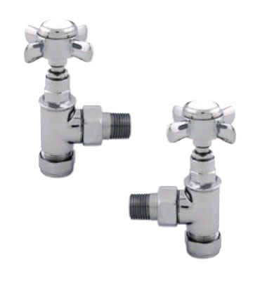 Abacus Ultima Traditional 15mm Chrome Manual Radiator Valve Set