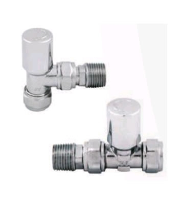 Abacus Ultima Standard Chrome Manual Radiator Valve Set