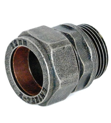 Abbey 22mm Pewter Compression Adaptor