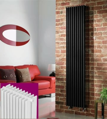 Quinn Adagio 70 Vertical White Radiators