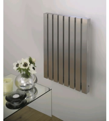 Aeon Arat E Wall Mounted Brushed Matt Stainless Steel Radiators