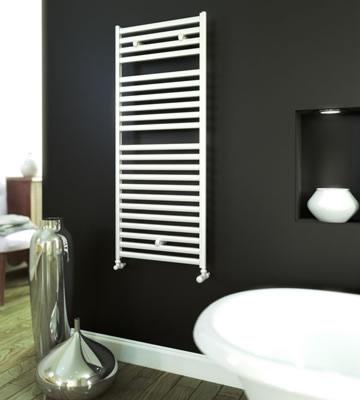 Aeon Banio Aluminium White Towel Rail