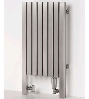 Aeon Dalya L Brushed Stainless Steel Radiator