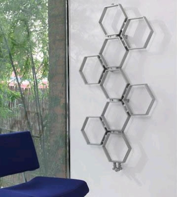 Aeon Honeycomb Brushed Stainless Steel Radiator