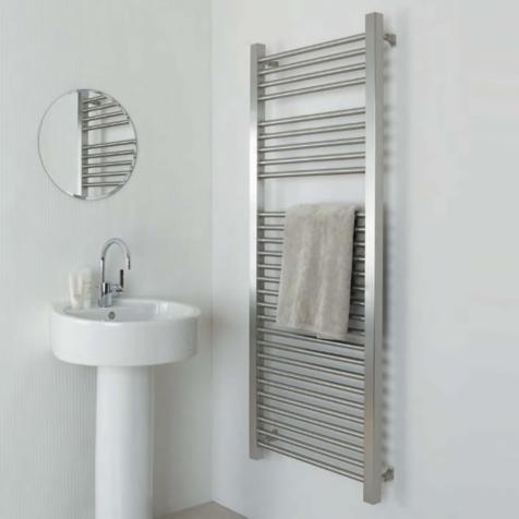 Aeon Serhad Brushed Stainless Steel Towel Rails