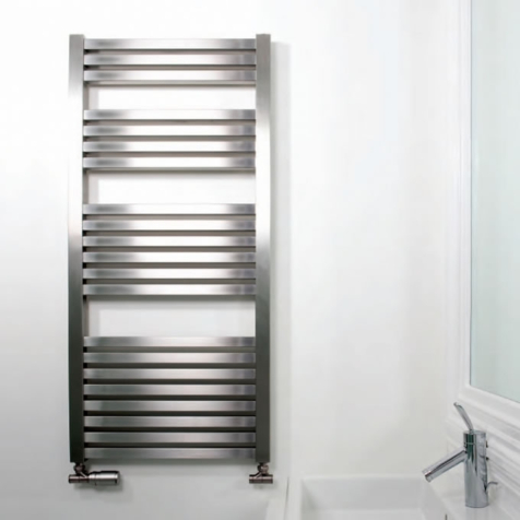 Aeon Serif Brushed Stainless Steel Towel Rails