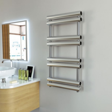 Aeon Tubo Brushed Stainless Steel Towel Rails
