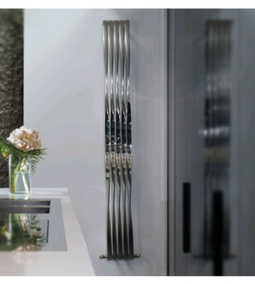 Aeon Twister 1500mm High Bi Finish Stainless Steel Radiator