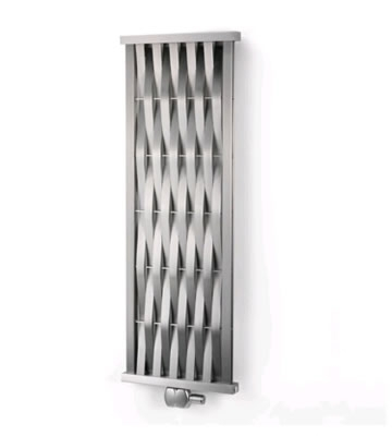 Aeon Wave Vertical Brushed Stainless Steel Radiator