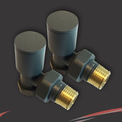Anthracite Radiator Valve Set