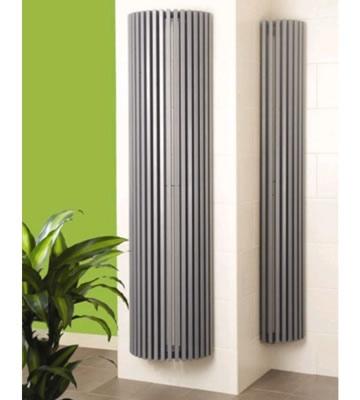 Apollo Bassano Vertical Round White Radiators