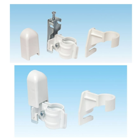 Apollo Roma Concealed Wall Brackets with Bottom Clips (Set of Two)