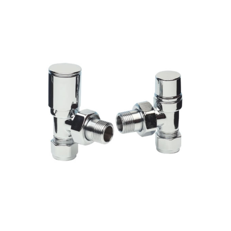 Apollo Italian Contemporary Chrome 15mm Angled Valve Set