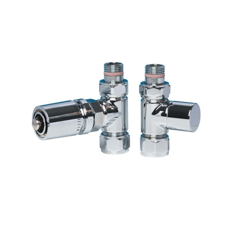 Apollo Polished Chrome 15mm Straight Thermostatic Radiator Valves
