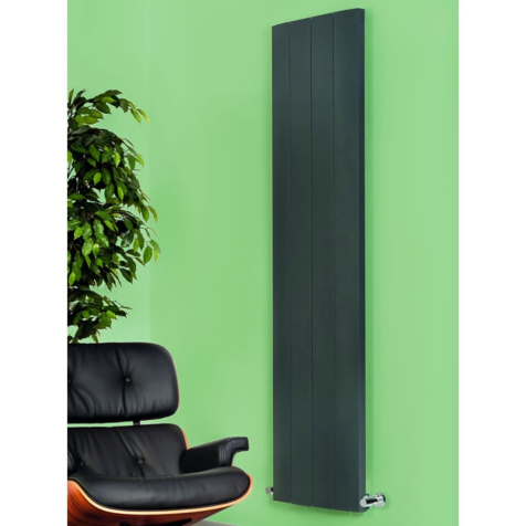 Apollo Malpensa Curved Low Level Aluminium Anthracite 300mm Radiators