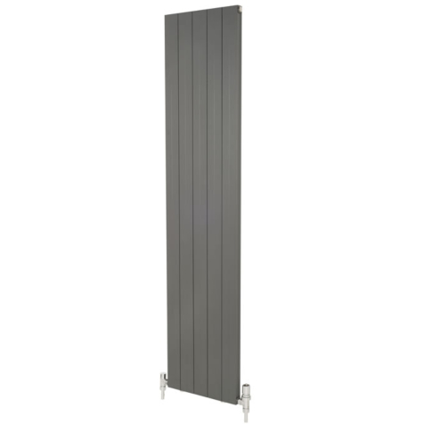 Apollo Malpensa Flat Low Level Aluminium Anthracite 300mm Radiators