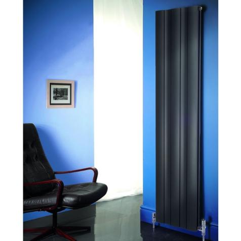 Apollo Malpensa Wave Vertical Aluminium Anthracite 18000mm Radiators
