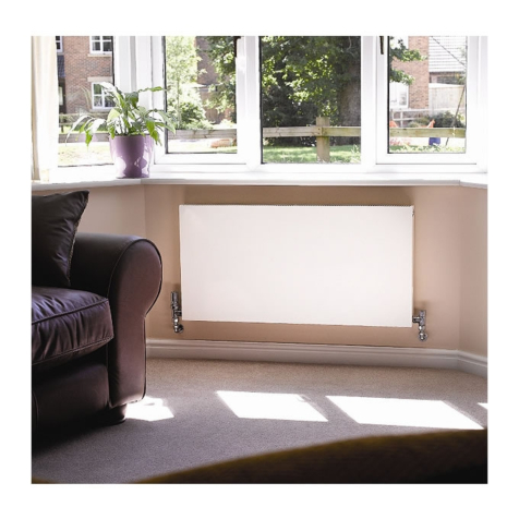Apollo Milano Deep Horizontal Flat Panel 600mm High Radiators