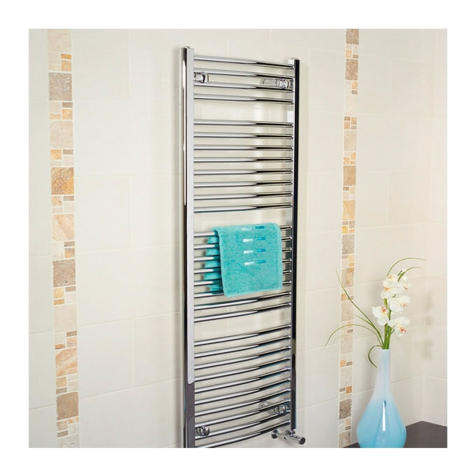 Apollo Napoli White Curved Towel Rails