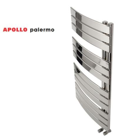 Apollo Palermo Chrome Offset Curved Towel Rails