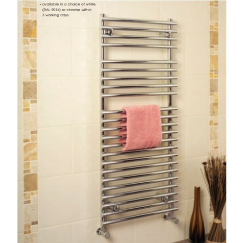 Apollo Pavia Chrome Tube On Tube Towel Rails