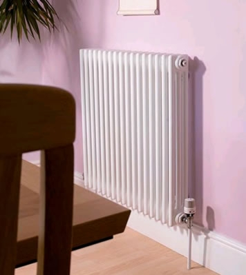 Apollo Roma 2 Column 600mm High Silver Radiators