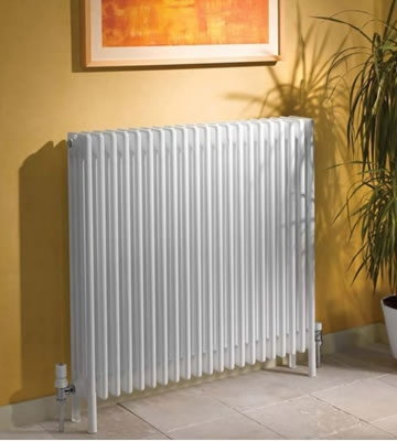 Apollo Roma 3 Column With Feet 600mm High Radiator in Colour - Finish