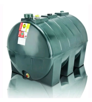 Atlas Tanks 1300HA 1300Litre Horizontal Single Skin Oil Tank