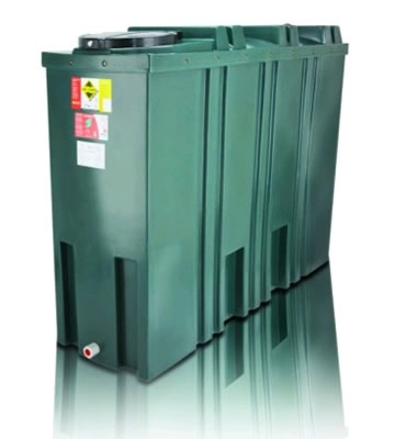 Atlas Tanks 1400BSA 1400Litre Slimline Bunded Oil Tank