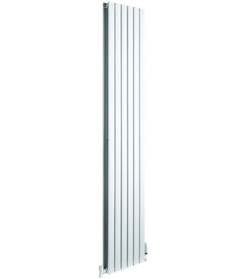 DQ Axis Vertical Double White Radiators