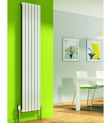 DQ Axis Vertical Single White Radiators