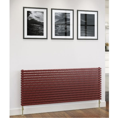 DQ Cube Double Horizontal Dark Grey Texture or RAL Finish Radiators