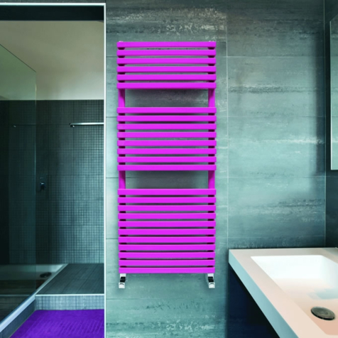 DQ Cube T Dark Grey Texture or RAL Finish Towel Rails