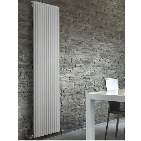 DQ Cube Vertical Double Dark Grey Texture or RAL Finish Radiators