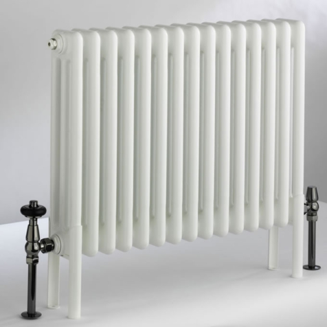 DQ Peta 6 Column 292mm High Radiators in White Finish