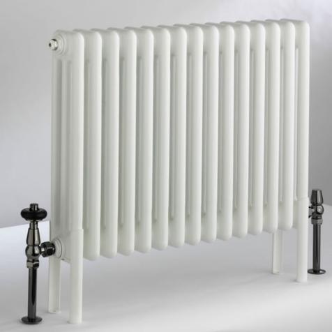 DQ Peta 2 Column 592mm High Radiators in White Finish