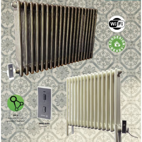 DQ Peta Electric Column Radiators in RAL Colour and Special Finishes