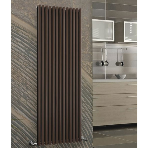 DQ Vulcano Single Vertical Dark Grey Texture or RAL Finish Radiators