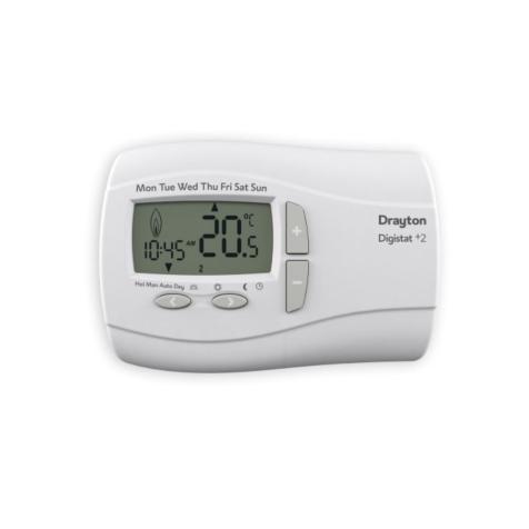 Drayton DigistatPlus 2 Programmable Room Thermostat - Mains 240v