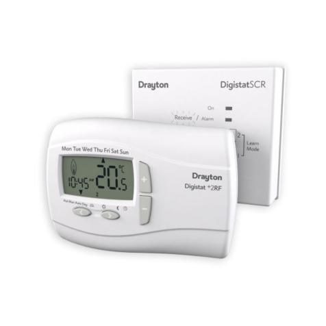Drayton DigistatPlus 2RF Wireless Programmable Room Thermostat